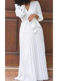 white maxi dress belted v neck sleeve white maxi dress linkshe usd 37 17