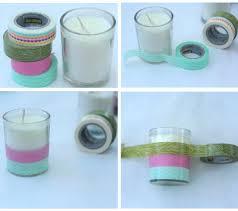 diy washi tape and image transfer candles dear handmade life
