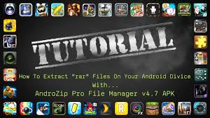 androzip apk how to extract rar files and install apk obb files on a android