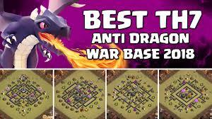 layout design th7 th7 anti dragon war base 2018 town hall 7 war base layout
