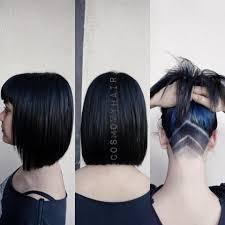 versatile hairstyle bob haircut black hair color with hidden