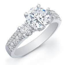 diamond stone rings images Fetching enement ring three stone oval diamond cadral three stone jpg