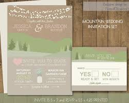 mountain wedding invitations mountain wedding invitations rustic wedding invites with