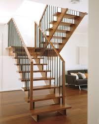 grey hardwood floors with open staircase u0026 steel railings stairs