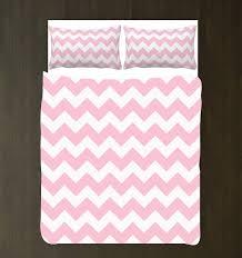 Chevron Bedding Queen Custom Chevron Duvet Bedding Set Light Pink And White Any