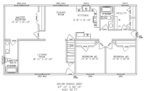 ranch floor plans homey design house plans one story ranch style 12 floor for homes