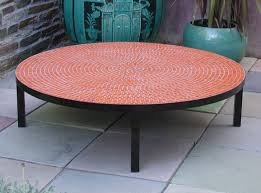 stone patio side table outdoor round coffee table stylish great side mosaic stone top