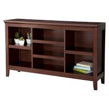 amazon com threshold carson horizontal bookcase espresso