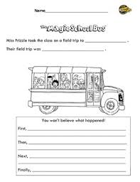 magic bus summary worksheet retell first then next last
