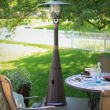 patio heater propane az patio heater hiland mocha wicker propane patio heater hayneedle