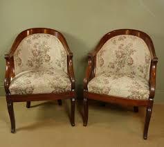 Tub Chairs Pair Of 19th C Mahogany Tub Chairs Antiques Atlas