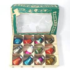 Glass Bell Christmas Ornaments - box small shiny brite 1950s glass bell christmas ornaments ebay