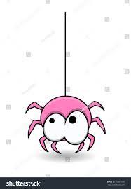 sweet cute pink spider halloween vector stock vector 156687080