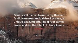 vladimir nabokov quote u201cgenius still means in my russian