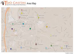 Guadalupe Mexico Map by Area Map Two Casitas Santa Fe Vacation Rentals The Plaza Santa