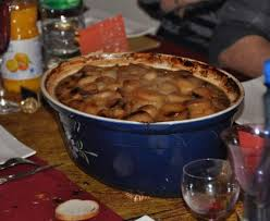 baeckeoffe de canard aux épices de noël et fruits secs recette de
