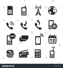 mobile account management icons simplus series stock illustration