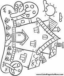 houses coloring meditation art mindful coloring