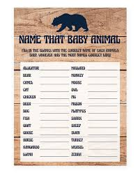Baby Shower Game Baby Animals Printable