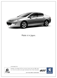 where is peugeot made peugeot 407 made it in japan creative ads inspiration