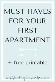 apartment must haves for your first apartment designs and colors