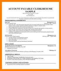 Account Payable Sample Resume 9 Account Payable Resume Mla Cover Page
