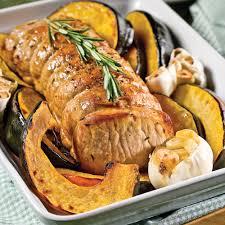cuisiner roti de porc rôti de porc et courge au four recettes cuisine et nutrition