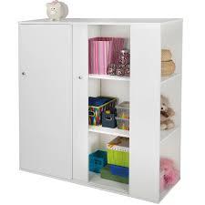 Sliding Door Storage Cabinet by Southshore Storit Kids Storage Cabinet With Sliding Doors In Pure