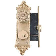 Mortise Locksets 1900 U0027s Romanesque Lockwood Mortise Lock Set From Oldegoodthings On