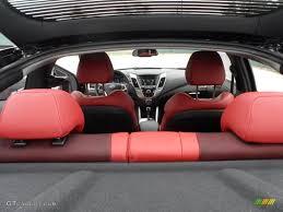Veloster Hyundai Interior Black Red Interior 2012 Hyundai Veloster Standard Veloster Model