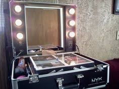 portable hair and makeup stations open up the convenient and portable makeup station to complete