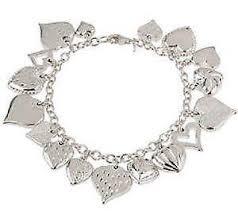 ebay charm bracelet silver images Charm bracelet ebay JPG
