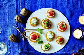 easy vegetarian canapes 50 and easy canapes roasted potato bites