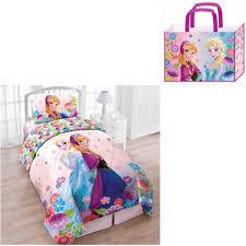 disney girls bedding disney u0027s frozen floral breeze twin 4 piece bed in a bag with bonus