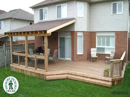 deck with roof designs home furniture design