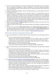 Mental Health Resume Examples by Consumer Handbook To The Mental Health Act 2014 30 November 2015