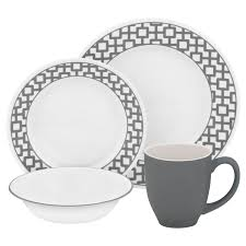 corelle vitrelle kitchen design dinnerware 16 pcs set service cup