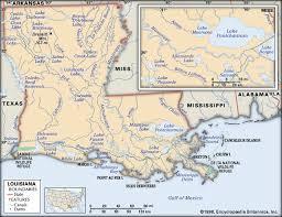 louisiana geographical map louisiana physical features britannica homework help