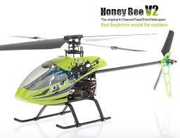 best 4ch helicopter honey bee v2 4 voies h礬licopt礙re rc avec un ensemble d