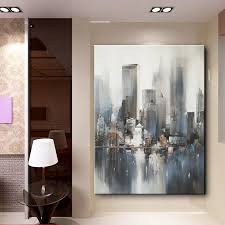 aliexpress com buy modern landscape knife painting abstract aliexpress com buy modern landscape knife painting abstract city building oil painting canvas art wall mural decal decoration no frame from reliable