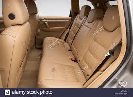 2006 Porsche Cayenne - 2006 porsche cayenne turbo in beige rear seats stock photo