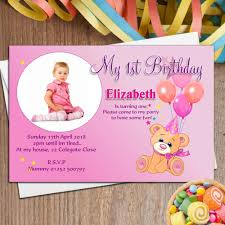 Invitation Card Of Birthday Party 10 Personalised Teddy Birthday Party Photo Invitations N34