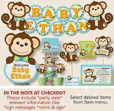 monkey baby shower decorations boy monkey baby shower decorations monkey birthday
