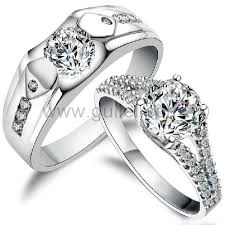 rings zirconia images 925 sterling silver cubic zirconia personalized wedding rings set jpg