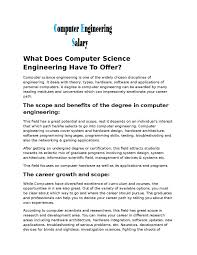 what does computer science engineering has to offer by