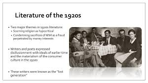 literature themes in the 1920s the 1920s a new culture ppt download