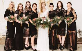 black bridesmaid dresses bridesmaids ideas and inspiration we think you ll