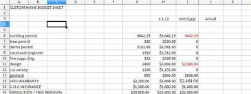 commercial construction cost estimate spreadsheet new home
