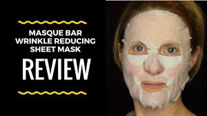 Sheets That Don T Wrinkle Review Of Masque Bar Wrinkle Reducing Sheet Mask Take It Off