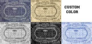 print of vintage boston garden seating chart seating chart on